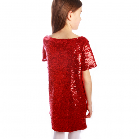 Rochie paiete roșii2