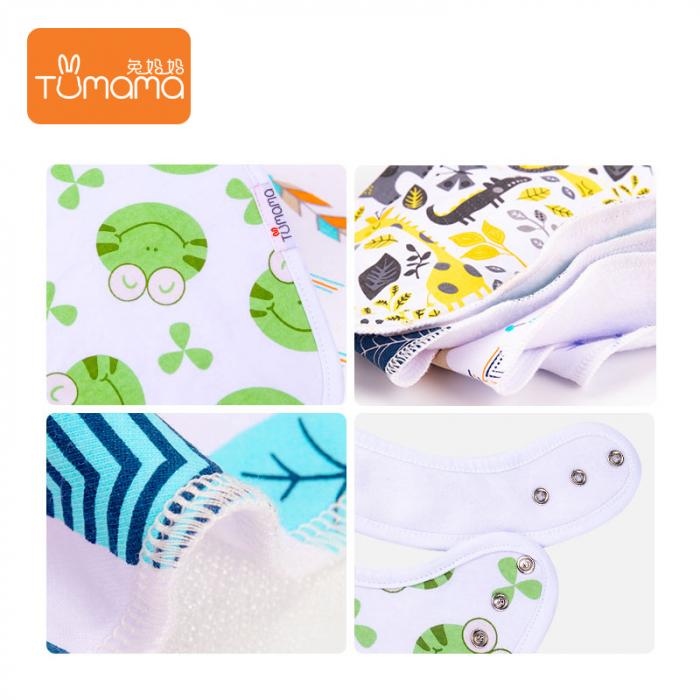 4 seturi 2 in 1 Tumama® bandana si babetica bebelusi, imprimeuri multicolore 3