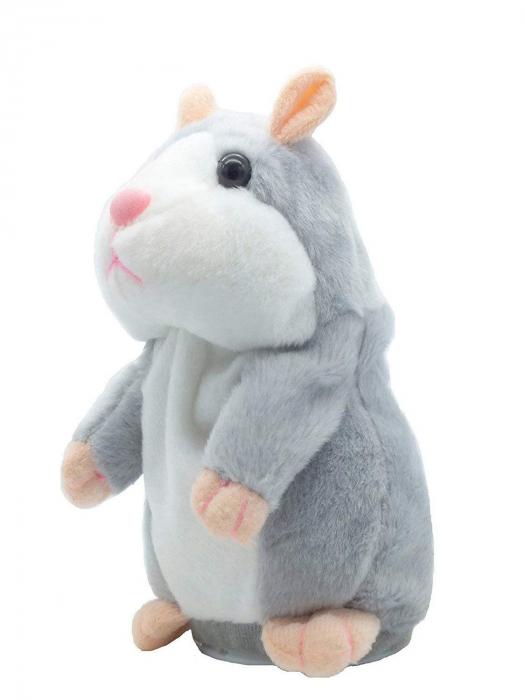 Jucarie Interactiva Copii Hamsterul Vorbitor, Gri 0