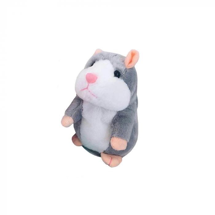 Jucarie Interactiva Copii Hamsterul Vorbitor, Gri 1