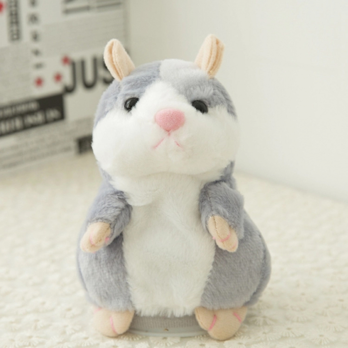 Jucarie Interactiva Copii Hamsterul Vorbitor, Gri 2