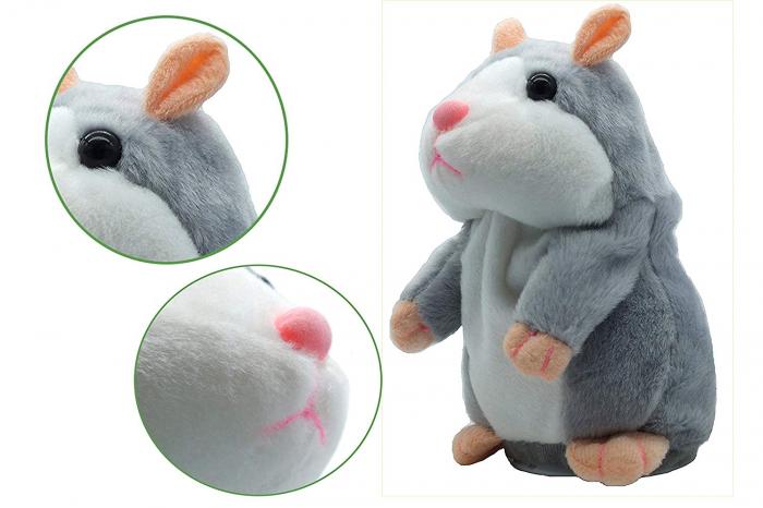 Jucarie Interactiva Copii Hamsterul Vorbitor, Gri 3