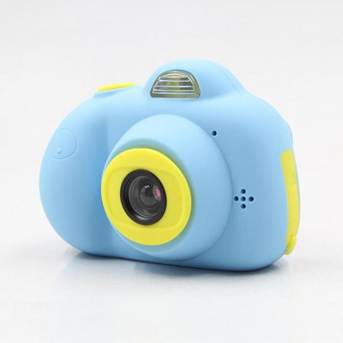 Aparat Foto Compact pentru Copii, Albastru, cu functie Selfie, Recunoastere Faciala, Filmare HD 4