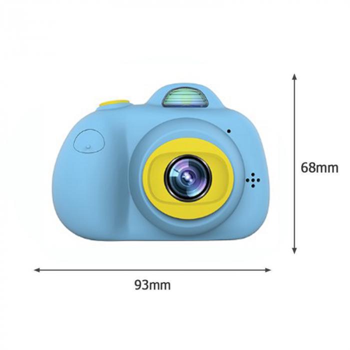 Aparat Foto Compact pentru Copii, Albastru, cu functie Selfie, Recunoastere Faciala, Filmare HD 2