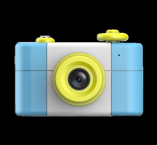 Aparat Foto Compact pentru Copii, Albastru, cu Obiectiv, Fotografiere Full HD, Filmare HD + Cadou Husa de protectie 1