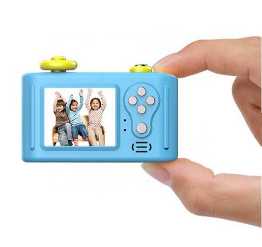Aparat Foto Compact pentru Copii, Albastru, cu Obiectiv, Fotografiere Full HD, Filmare HD + Cadou Husa de protectie 7