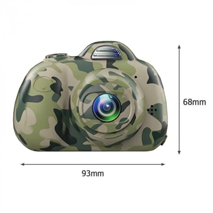 Aparat Foto Compact pentru Copii, Camuflaj, cu functie Selfie, Recunoastere Faciala, Filmare HD 3