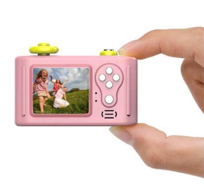 Aparat Foto Compact pentru Copii, Roz, cu Obiectiv, Fotografiere Full HD, Filmare HD + Cadou Husa de protectie 5
