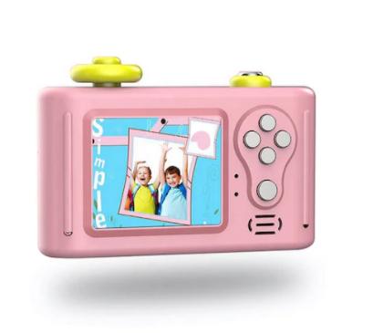 Aparat Foto Compact pentru Copii, Roz, cu Obiectiv, Fotografiere Full HD, Filmare HD + Cadou Husa de protectie 6