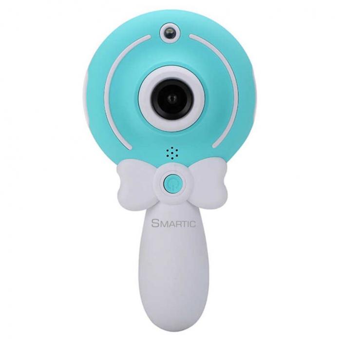 Aparat foto copii, SMARTIC ®, full HD, Magic Mirror V2, display 2.0 inch, blitz de tip LED, BPA free, Albastru/Alb [0]