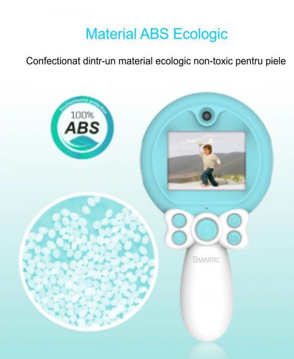 Aparat foto copii, SMARTIC ®, full HD, Magic Mirror V2, display 2.0 inch, blitz de tip LED, BPA free, Albastru/Alb [5]