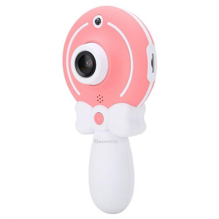 Aparat foto copii, SMARTIC ®, full HD, Magic Mirror V2, display 2.0 inch, blitz de tip LED, BPA free, Roz/Alb 6