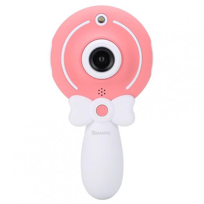 Aparat foto copii, SMARTIC ®, full HD, Magic Mirror V2, display 2.0 inch, blitz de tip LED, BPA free, Roz/Alb 0