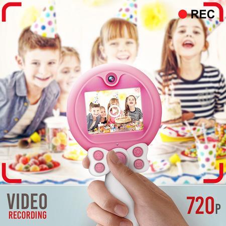 Aparat foto copii, SMARTIC ®, full HD, Magic Mirror V2, display 2.0 inch, blitz de tip LED, BPA free, Roz/Alb 8