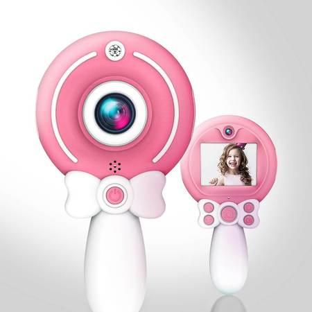 Aparat foto copii, SMARTIC ®, full HD, Magic Mirror V2, display 2.0 inch, blitz de tip LED, BPA free, Roz/Alb 7