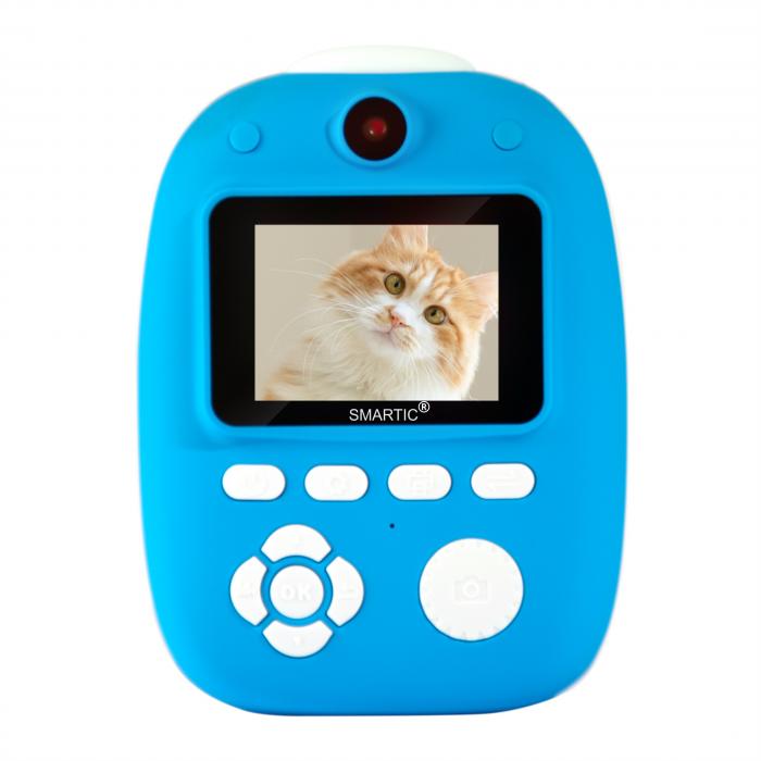 Aparat foto digital instant pentru copii, Lentile Duble, Imprimare Instant, Inregistrare Video, Focalizare Automata, Functie Selfie, 1080P HD, 18MP, 2.0 inch, Smartic®, albastru [0]