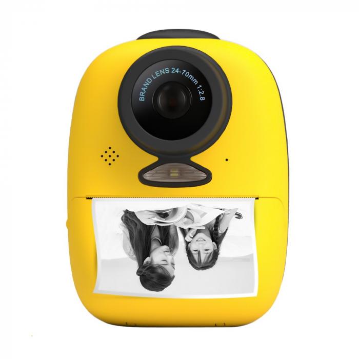 Aparat foto digital instant pentru copii, Lentile Duble, Imprimare Instant, Inregistrare Video, Focalizare Automata, Functie Selfie, 1080P HD, 18MP, 2.0 inch, Smartic®, galben 1