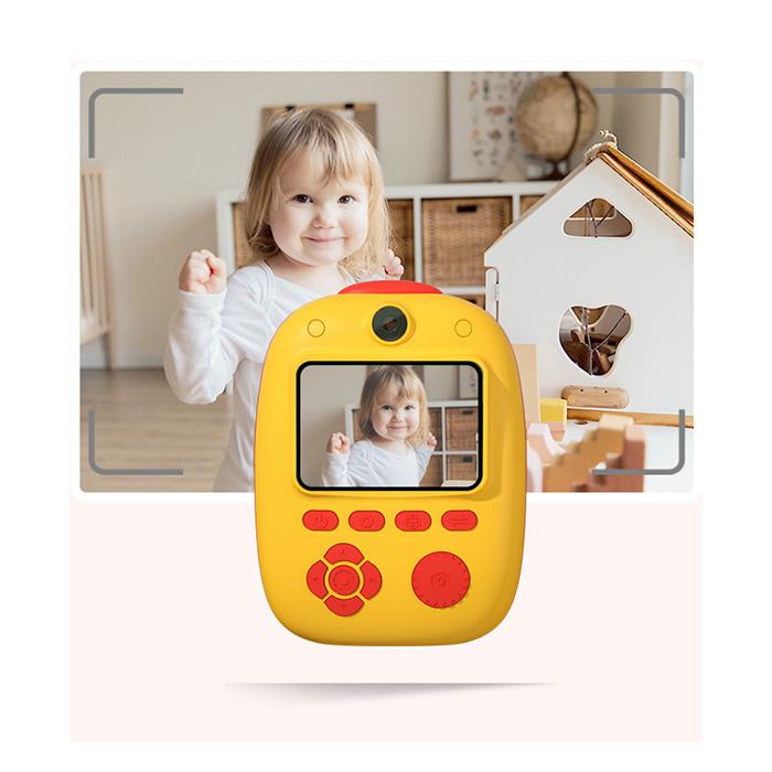 Aparat foto digital instant pentru copii, Lentile Duble, Imprimare Instant, Inregistrare Video, Focalizare Automata, Functie Selfie, 1080P HD, 18MP, 2.0 inch, Smartic®, rosu/galben 3