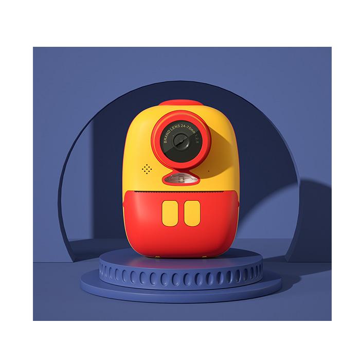 Aparat foto digital instant pentru copii, Lentile Duble, Imprimare Instant, Inregistrare Video, Focalizare Automata, Functie Selfie, 1080P HD, 18MP, 2.0 inch, Smartic®, rosu/galben 5