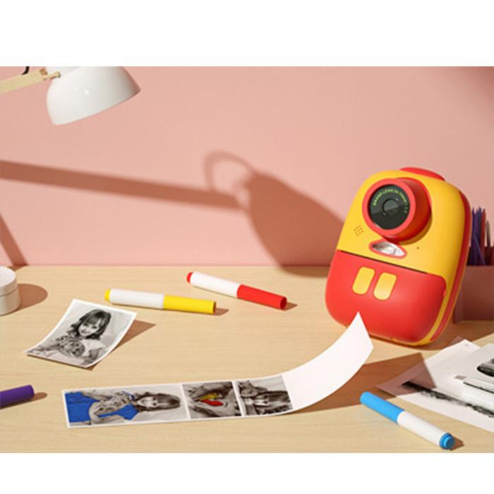 Aparat foto digital instant pentru copii, Lentile Duble, Imprimare Instant, Inregistrare Video, Focalizare Automata, Functie Selfie, 1080P HD, 18MP, 2.0 inch, Smartic®, rosu/galben 4