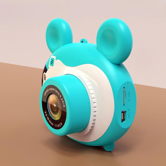 Aparat foto pentru copii, Design Mickey Mouse, Display 2 inch, Microfon incorporat, Rezolutie 1080P, Wi-Fi, Functie inregistrare, Muzica, Smartic®, albastru [1]
