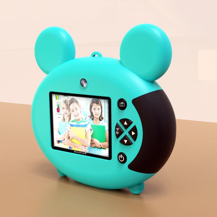 Aparat foto pentru copii, Design Mickey Mouse, Display 2 inch, Microfon incorporat, Rezolutie 1080P, Wi-Fi, Functie inregistrare, Muzica, Smartic®, albastru [2]