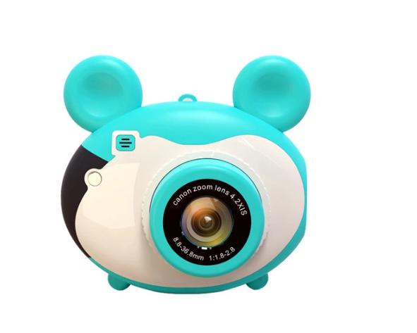 Aparat foto pentru copii, Design Mickey Mouse, Display 2 inch, Microfon incorporat, Rezolutie 1080P, Wi-Fi, Functie inregistrare, Muzica, Smartic®, albastru [0]