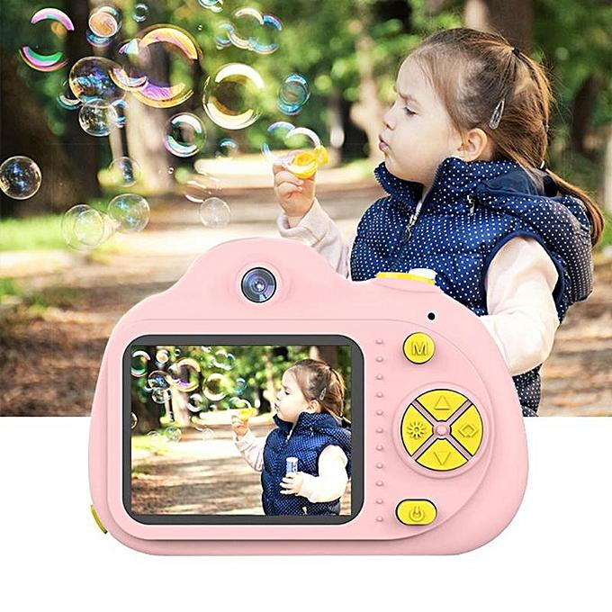 Aparat Foto pentru copii SMARTIC, Compact , Roz, cu functie Selfie, Recunoastere Faciala, Filmare HD 1