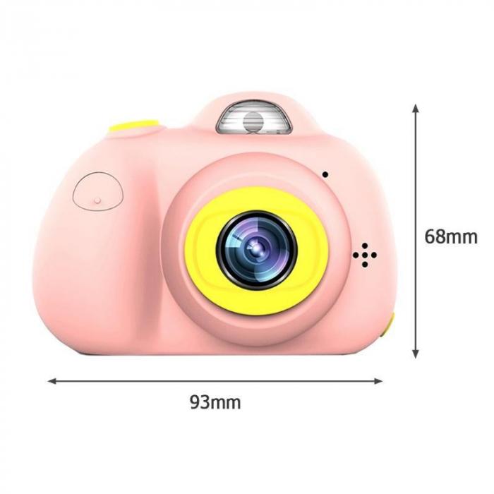 Aparat Foto pentru copii SMARTIC, Compact , Roz, cu functie Selfie, Recunoastere Faciala, Filmare HD 2