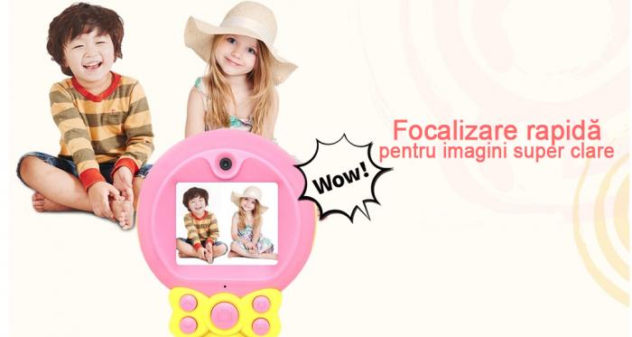 Aparat foto pentru Copii, SMARTIC, Magic Mirror, Roz 2