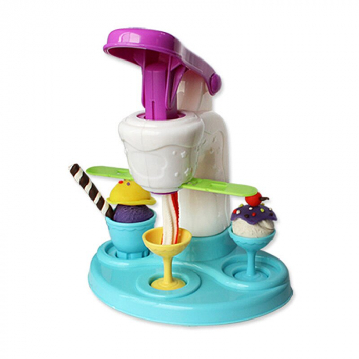 """Aparat inghetata pentru copii """"Fabrica de inghetata"""", 6 recipiente plastilina si accesorii, Smartic®, multicolor 1"""