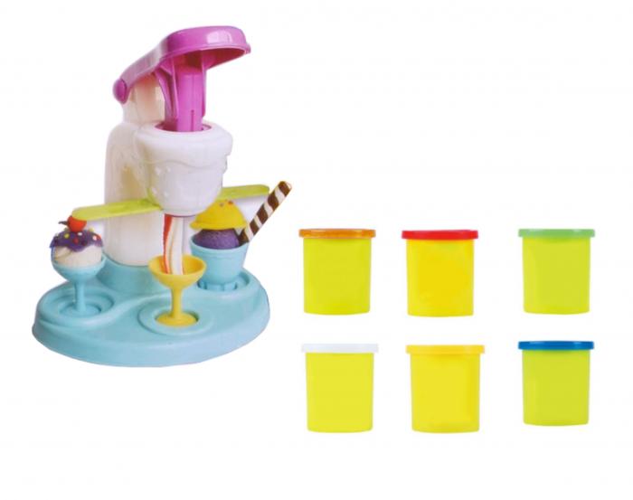 """Aparat inghetata pentru copii """"Fabrica de inghetata"""", 6 recipiente plastilina si accesorii, Smartic®, multicolor 3"""