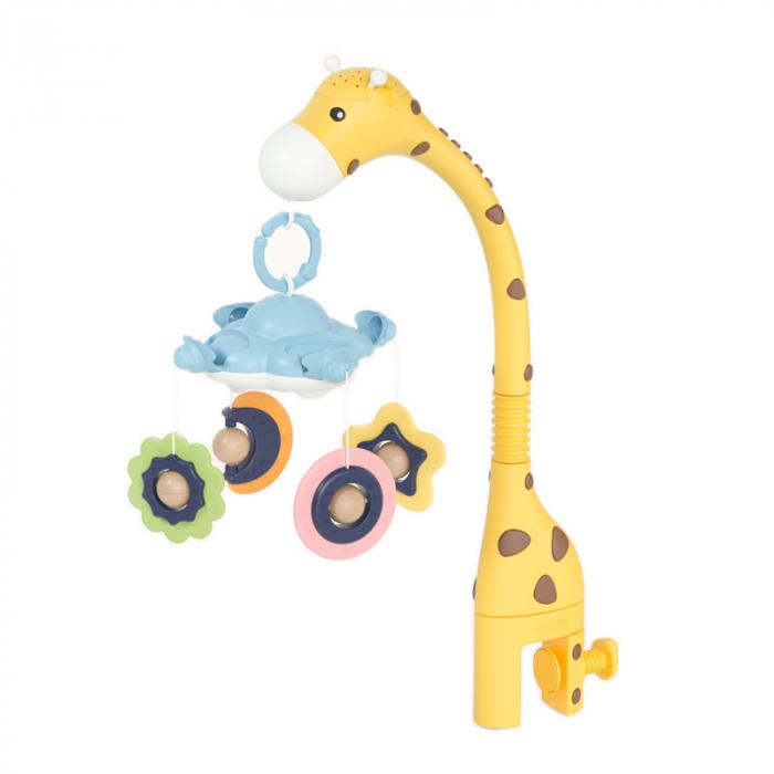 Arcada carusel Girafa Somnoroasa pentru patutul bebelusului, Tumama, galben 0