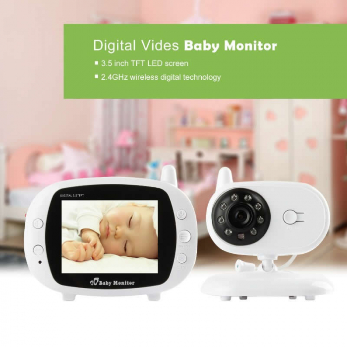 Pachet promo:Baby Monitor Audio Video, Wireless Nanny + Masinuta eccologica, interactiva Caprita 3