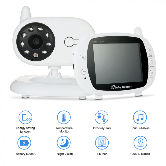 Pachet promo:Baby Monitor Audio Video, Wireless Nanny + Masinuta eccologica, interactiva Caprita 2