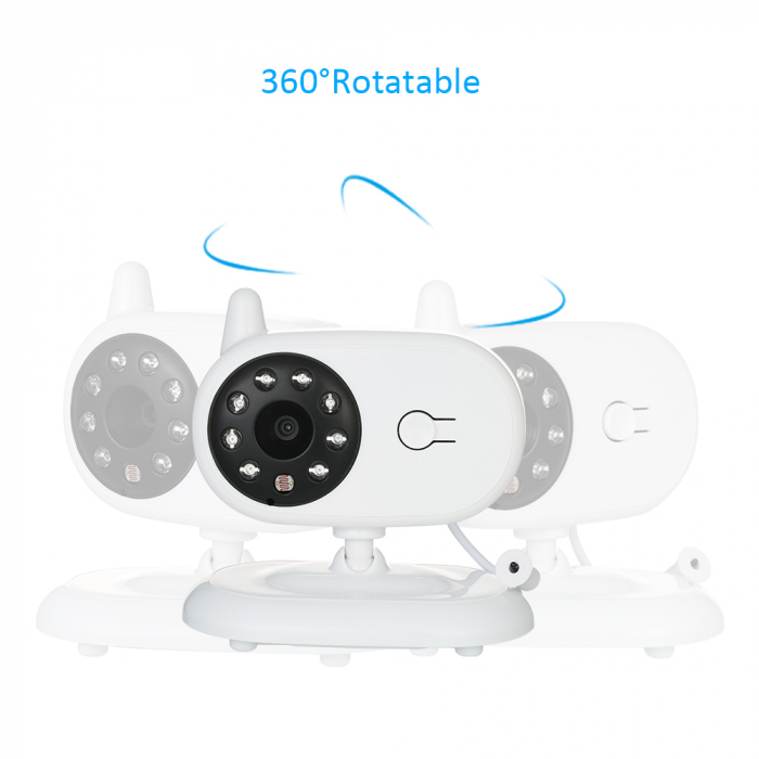 "Baby Monitor Audio Video, Wireless Nanny,NEW MODEL, night vision, TFT 3,5"",alarma temperatura,360⁰,200m 4"