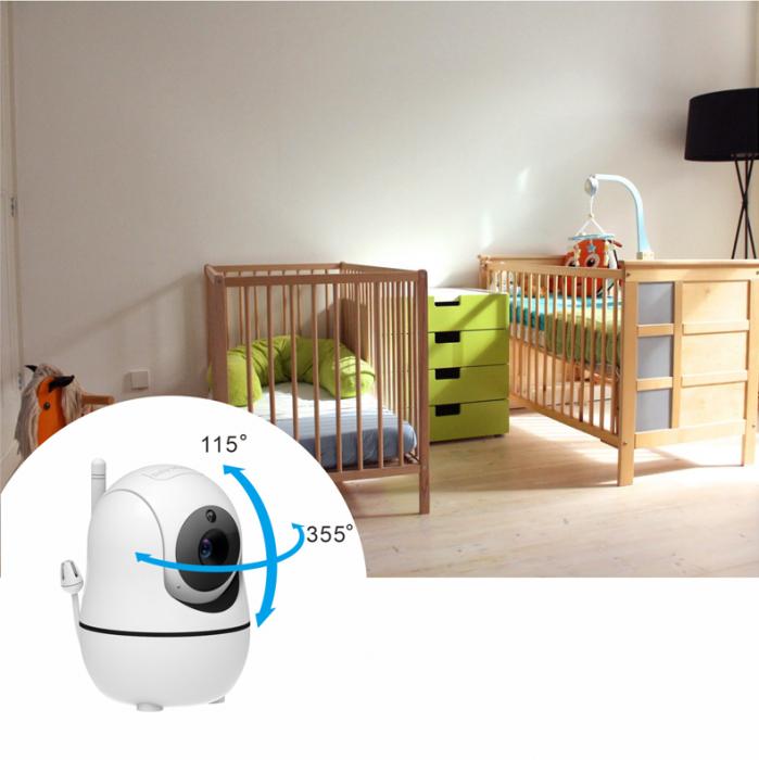 Baby monitor SM950, Display TFT LCD 5 inch, Raza actiune 300 m,  Rotire orizontala 355° / verticala 115°, Night Vision, Comunicare bidirectionala, Cantece leagan, Alarma, Monitorizare temperatura, Sma [3]