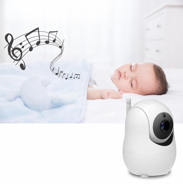 Baby monitor SM950, Display TFT LCD 5 inch, Raza actiune 300 m,  Rotire orizontala 355° / verticala 115°, Night Vision, Comunicare bidirectionala, Cantece leagan, Alarma, Monitorizare temperatura, Sma [2]