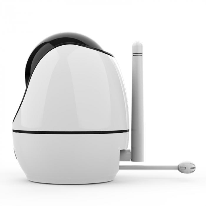 Baby monitor Smartic® BM500 Ecran 5 inch, TouchScreen, Night Vision, Comunicare Bidirectionala, Rotire Automata 355ᵒ, Cantece leagan, Monitorizare Temperatura, Raza 300 m, alb/negru [2]