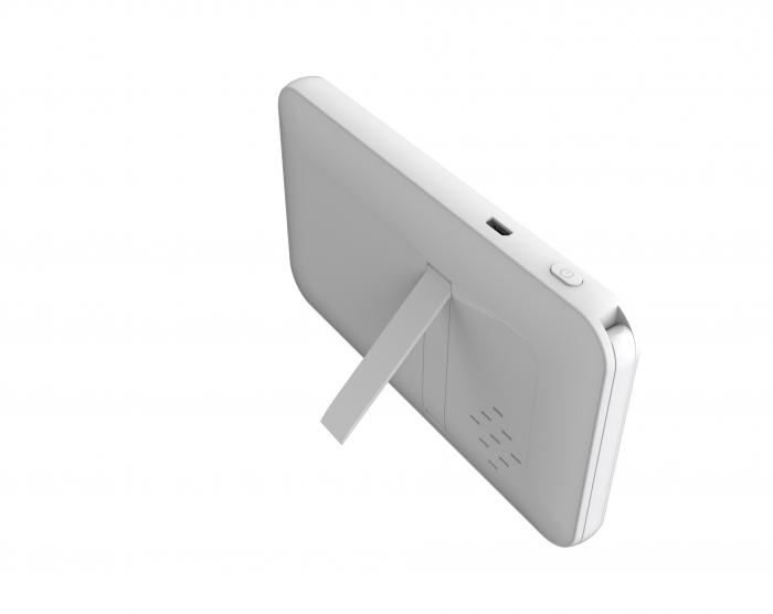 Baby monitor Smartic® BM500 Ecran 5 inch, TouchScreen, Night Vision, Comunicare Bidirectionala, Rotire Automata 355ᵒ, Cantece leagan, Monitorizare Temperatura, Raza 300 m, alb/negru [4]
