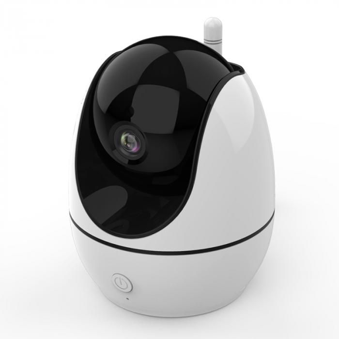 Baby monitor Smartic® BM500 Ecran 5 inch, TouchScreen, Night Vision, Comunicare Bidirectionala, Rotire Automata 355ᵒ, Cantece leagan, Monitorizare Temperatura, Raza 300 m, alb/negru [1]