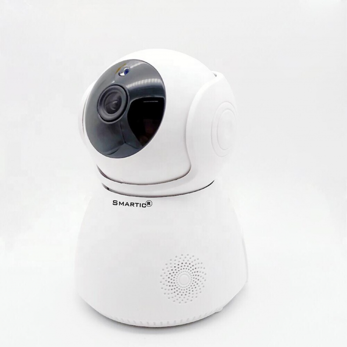 Baby Monitor Wireless Q9, Rezolutie HD 1920 x 1080P, WiFi, Functia Night Vision, Aplicatie Telefon, Smartic®, alb [1]