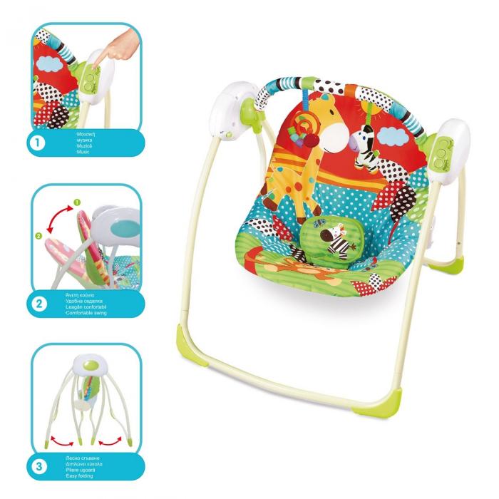 Balansoar electric pentru bebelusi, multicolor 1