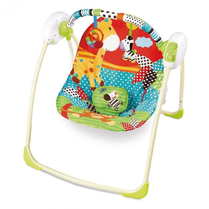 Balansoar electric pentru bebelusi, multicolor 0