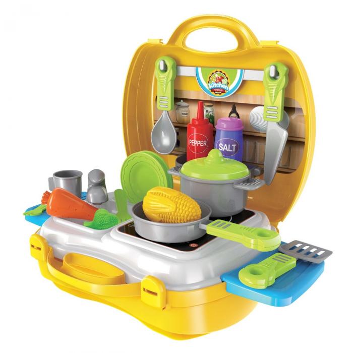 Bucatarie mobila copii in valiza cu accesorii SMARTIC® 0