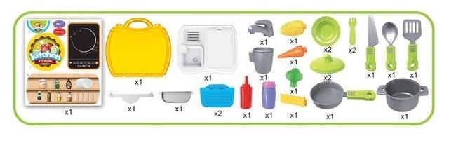 Bucatarie mobila copii in valiza cu accesorii SMARTIC® 1