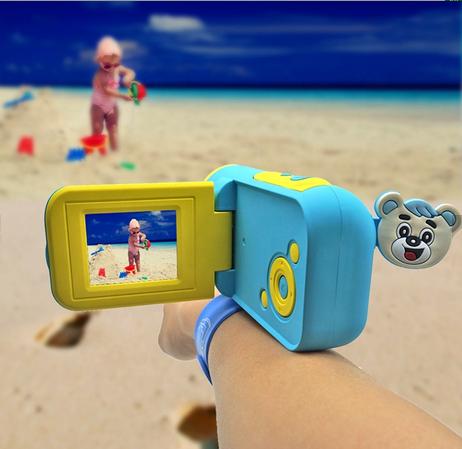 Camera Digitala Foto-Video pentru Copii, Fotografiere HD, Filmare HD, Albastru 2
