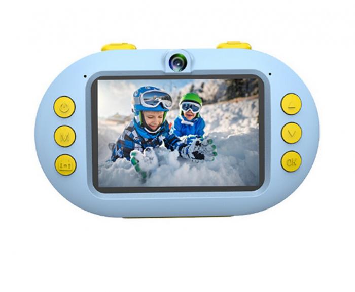 Camera foto digitala subacvatica, Magic Eye, 8MP, Functie Selfie, Rezistenta la apa, ecran HD 2.4 inch, Albastru 1