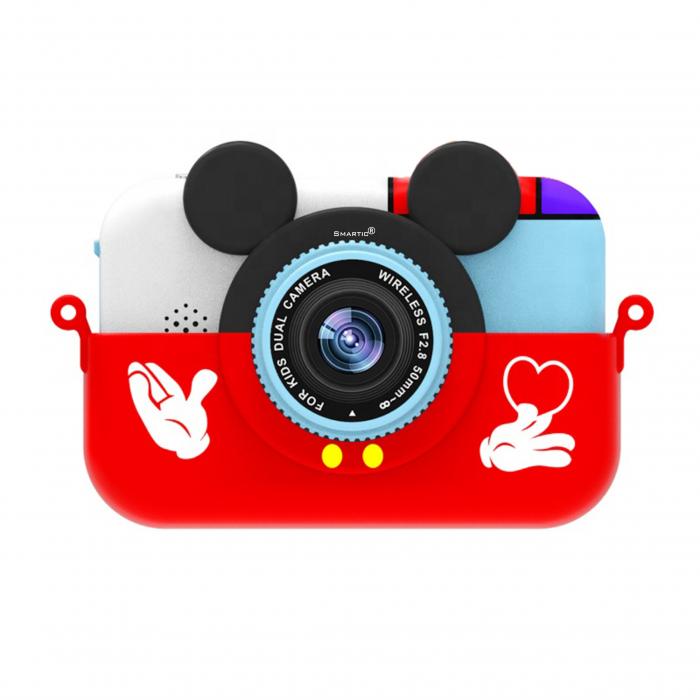 Camera foto/video pentru copii, Display 2 inch, Design Mickey Mouse, Rezolutie 1080P, Jocuri, MP3, Camera Duala, Smartic®, rosu 0