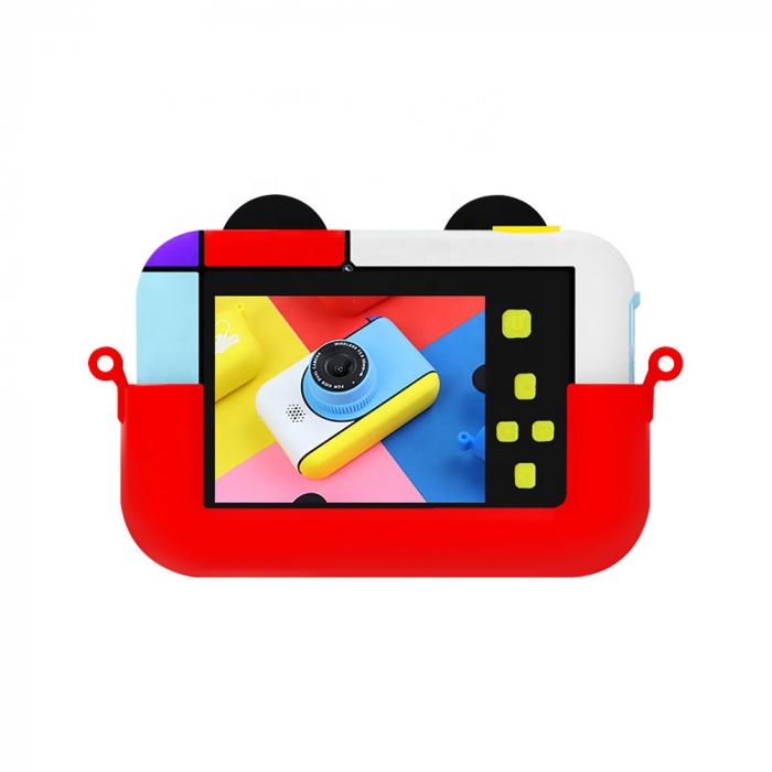 Camera foto/video pentru copii, Display 2 inch, Design Mickey Mouse, Rezolutie 1080P, Jocuri, MP3, Camera Duala, Smartic®, rosu 2